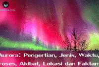 Aurora: Pengertian, Jenis, Waktu, Proses, Akibat, Lokasi dan Faktanya