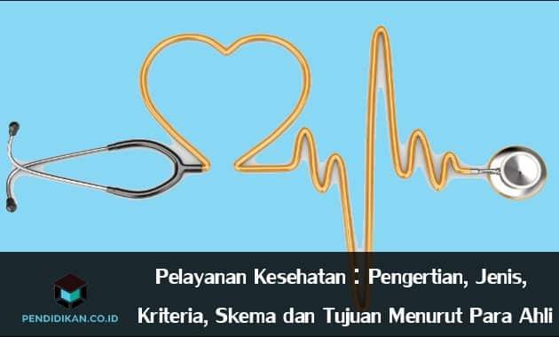 Pelayanan Kesehatan : Pengertian, Jenis, Kriteria, Skema dan Tujuan Menurut Para Ahli