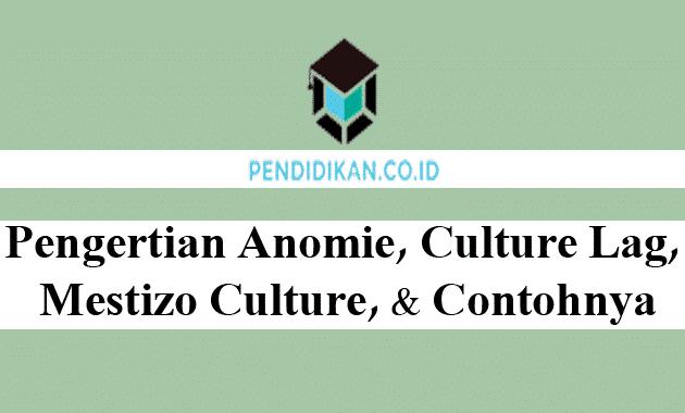 Pengertian Anomie, Culture Lag, Mestizo Culture, dan Contohnya