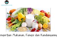 Pengertian Makanan, Fungsi dan Kandungannya