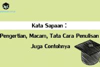 Kata Sapaan