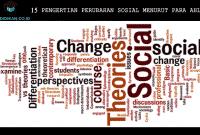 15 Pengertian Perubahan Sosial Menurut Para Ahli
