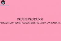 Proses Produksi : Pengertian, Jenis, Karakteristik dan Contohnya