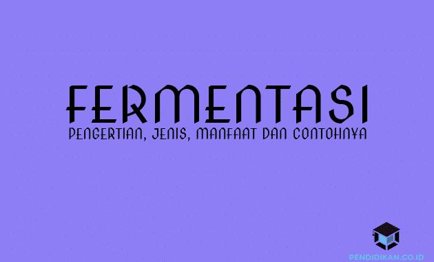 Pengertian Fermentasi, Jenis, Manfaat dan Contohnya