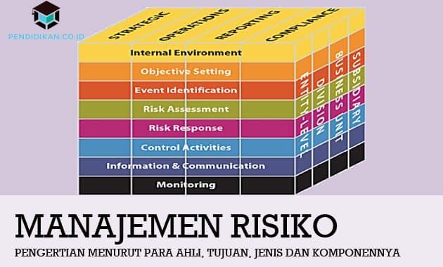 Pengertian Manajemen Risiko, Tujuan, Jenis dan Komponennya
