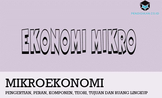 Pengertian Ekonomi Mikro, Peran, Komponen, Teori, Tujuan dan Ruang Lingkup