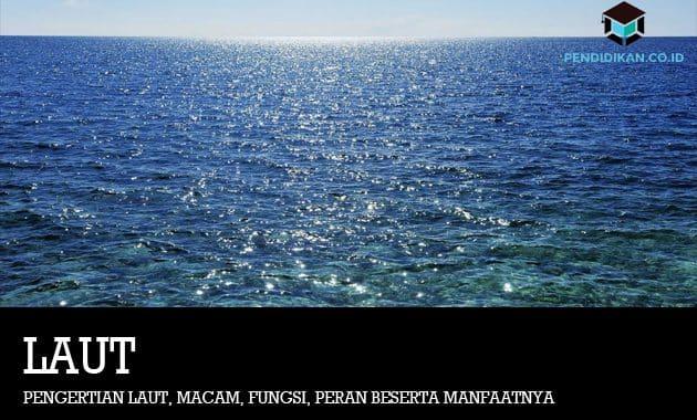 Pengertian Laut, Macam, Fungsi, Peran Beserta Manfaatnya