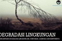 Pengertian Degradasi Lingkungan, Penyebab, Dampak dan Bentuknya