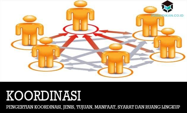 Pengertian Koordinasi, Jenis, Tujuan, Manfaat, Syarat dan Ruang Lingkup