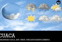 Pengertian Cuaca, Arti, Unsur, Pengaruh Beserta Jenisnya