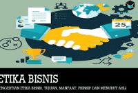 Pengertian Etika Bisnis, Tujuan, Manfaat, Prinsip dan Menurut Ahli