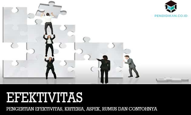 Pengertian efektivitas, Kriteria, Aspek, Rumus dan Contohnya