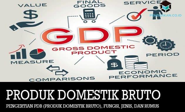 Pengertian PDB (Produk Domestik Bruto), Fungsi, Jenis, dan Rumus
