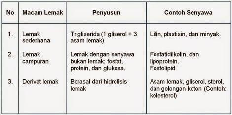 tabel-komponen-penyusun-lemak