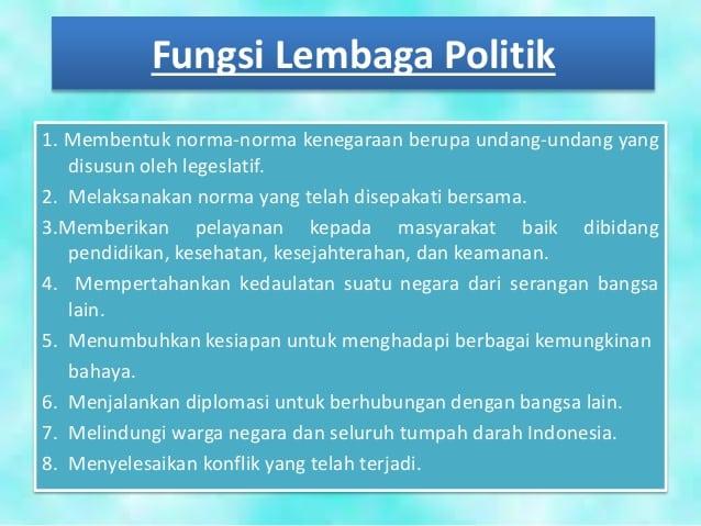 Fungsi-Lembaga-Politik