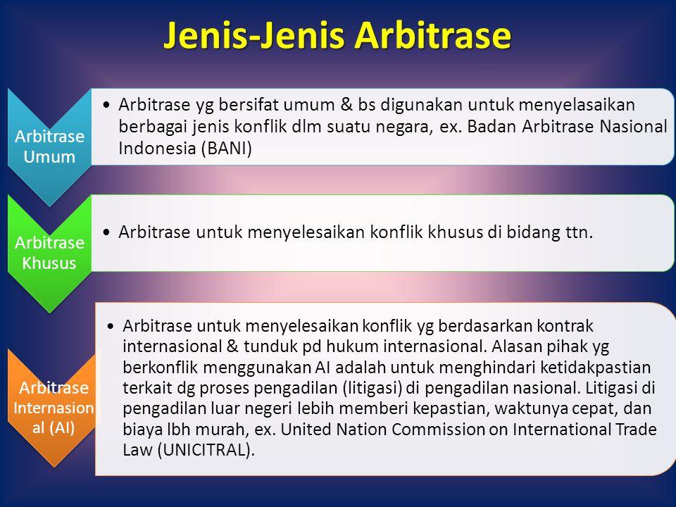 Jenis-Arbitrase