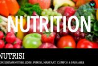 Pengertian Nutrisi