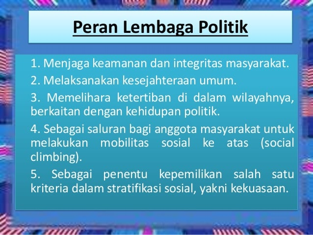 Peran-Lembaga-Politik