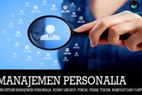 Pengertian Manajemen Personalia